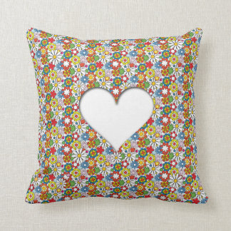 Many Flowers & A big Heart Pillow