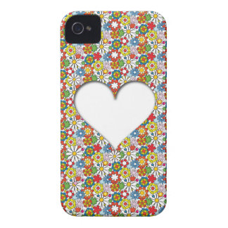 Many Flowers and A big Heart iPhone 4 Case