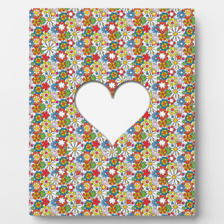 Many Flowers and A big Heart Plaque