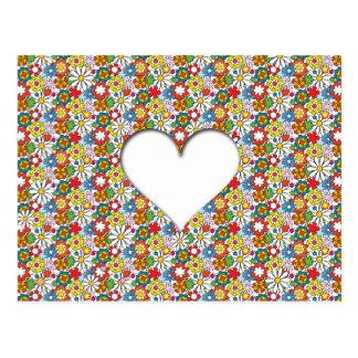Many Flowers and A big Heart Postcard