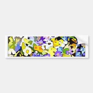 Many flowers bumper sticker