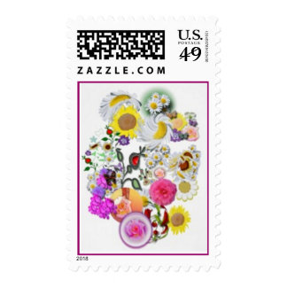 Many Flowers Postage Stamps