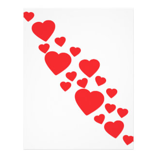 many flying red hearts icon personalized flyer