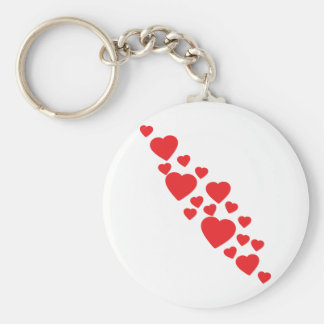 many flying red hearts icon keychain