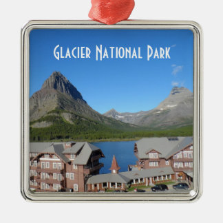 Many Glacier Hotel- Glacier National Park Metal Ornament