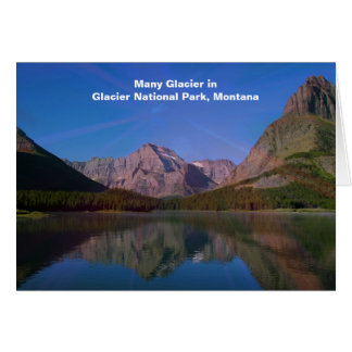 Many Glacier in Glacier National Park, Montana Card