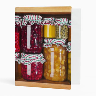 Many Glass Bottles With Preserved Food Mini Binder