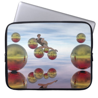 Many Gold Balls Surreal  Laptop Case Laptop Computer Sleeves