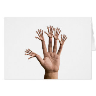 Many Hands Greeting Card