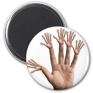Many Hands Refrigerator Magnets