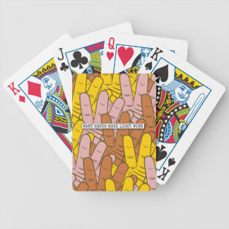 Many Hands Make Light Work Bicycle Playing Cards