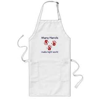 Many Hands...make light work! Long Apron