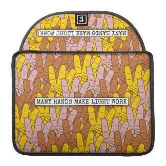 Many Hands Make Light Work MacBook Pro Sleeve
