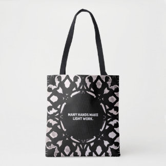 Many Hands Make Light Work - paper snowflake Tote Bag