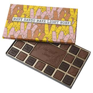 Many Hands Make Light Work Pattern Assorted Chocolates
