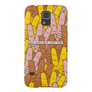 Many Hands Make Light Work Pattern Galaxy S5 Case