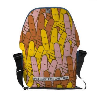Many Hands Make Light Work Pattern Messenger Bag