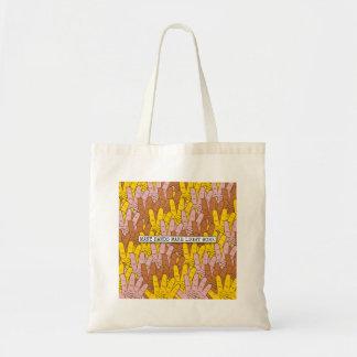 Many Hands Make Light Work Pattern Tote Bag