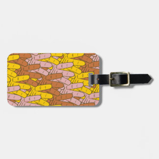 Many Hands Pattern Luggage Tag