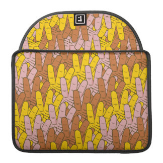 Many Hands Pattern MacBook Pro Sleeve