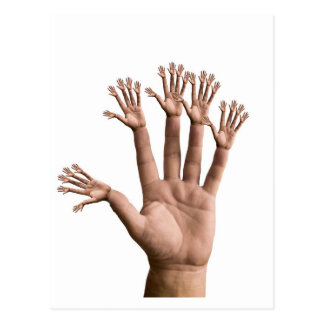Many Hands Post Card