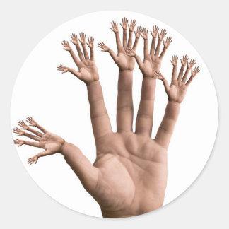 Many Hands Round Sticker