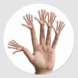 Many Hands Stickers