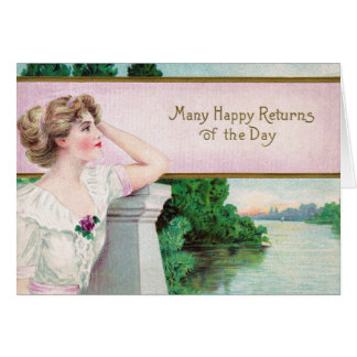 Many Happy Returns Woman by River Card