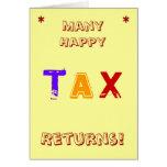 Many Happy Tax Returns! Cards