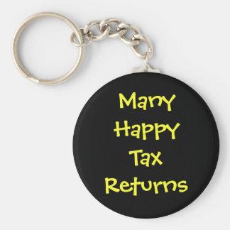 Many Happy Tax Returns Humor Tax Preparer Keychain