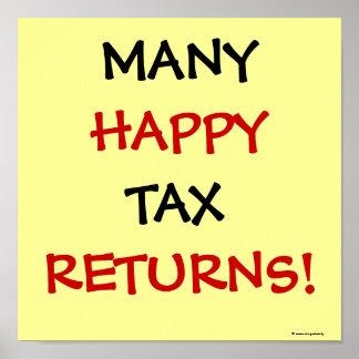 MANY HAPPY TAX RETURNS! POSTER