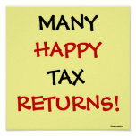 MANY HAPPY TAX RETURNS! PRINT