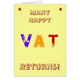 Many Happy VAT Returns! Card