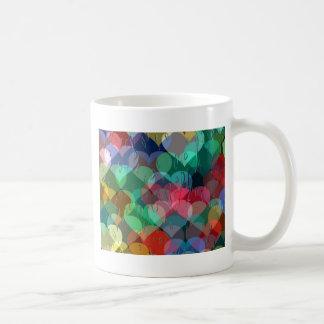 many hearts behind wet glass classic white coffee mug