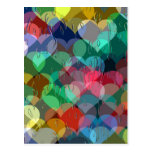 many hearts behind wet glass postcards