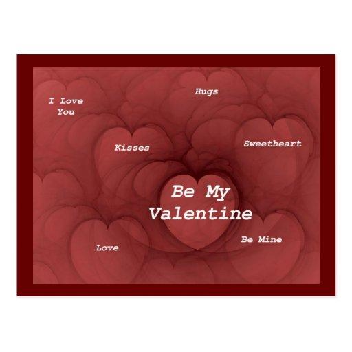 MANY HEARTS ~ Candy Hearts Postcard