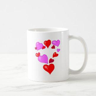 many hearts classic white coffee mug