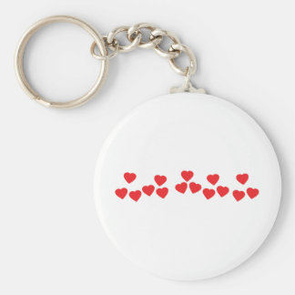 many hearts in line icon keychain