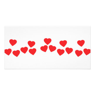many hearts in line icon photo greeting card