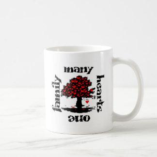 many hearts one family classic white coffee mug