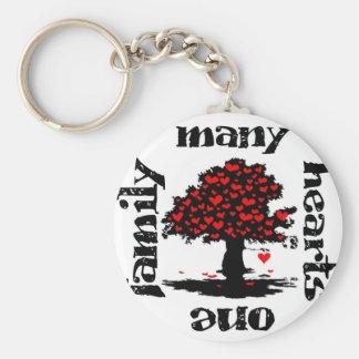 many hearts one family keychain