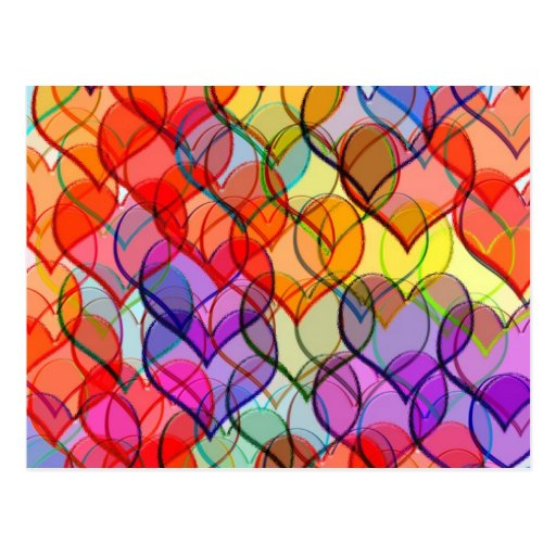 many hearts post card