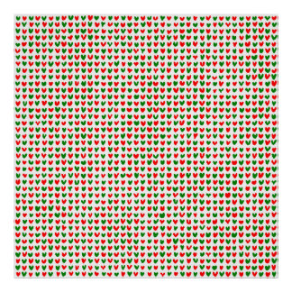 many hearts (red and green) poster