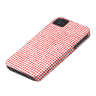 many hearts (red) iPhone 4 case