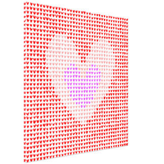 many hearts (red, pink and purple) canvas print