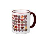 Many Hearts Ringer Mug