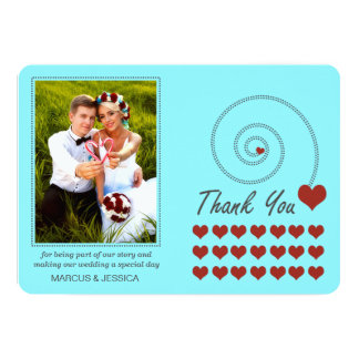 Many Hearts Wedding Thank You Cards