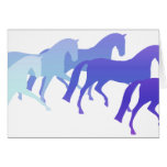 Many Horses (blues) Greeting Card