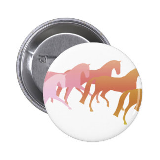 Many Horses  (pink to rust) Pinback Buttons
