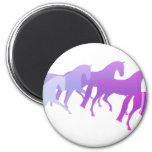 Many Horses (purples) 2 Inch Round Magnet
